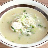 切り干し大根と豆苗のあっさり中華スープ