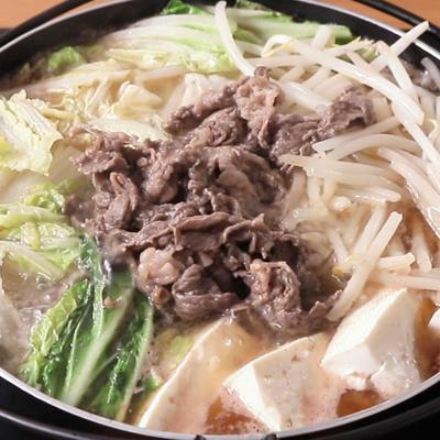 牛肉と白菜の無限ごま油鍋