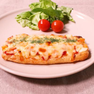 簡単!油揚げで卵ピザ