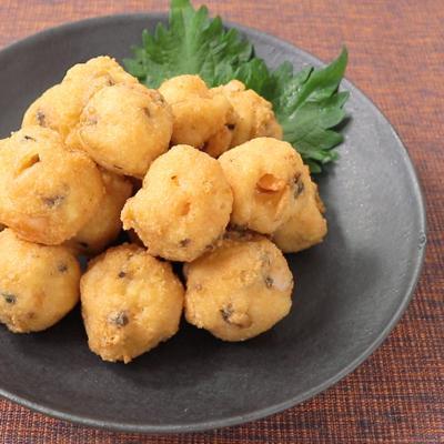 豆腐とシーフードのふわふわ揚げ