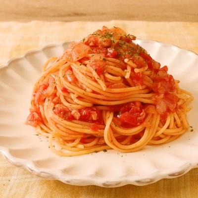 ツナの旨味が効く ツナとトマトの簡単スパゲティ