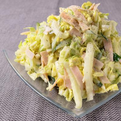 やみつき どっさり白菜のカレーマヨサラダ