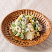 レンジで簡単 春菊とツナのポテトサラダ
