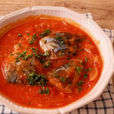 サバ缶で簡単トマト煮