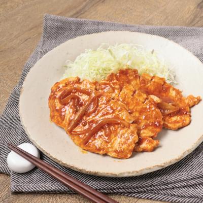 豚ロースで激辛冷製生姜焼き