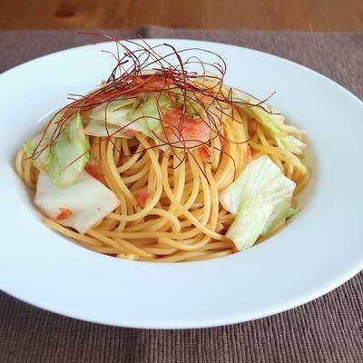 キャベツと桜えびのスパゲティ