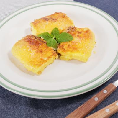 フライパンでキャラメリゼ カステラの簡単フレンチトースト
