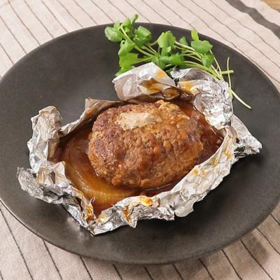 フライパンで 包み焼きハンバーグ