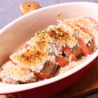 トースターで簡単!カツオとトマトのパン粉焼き