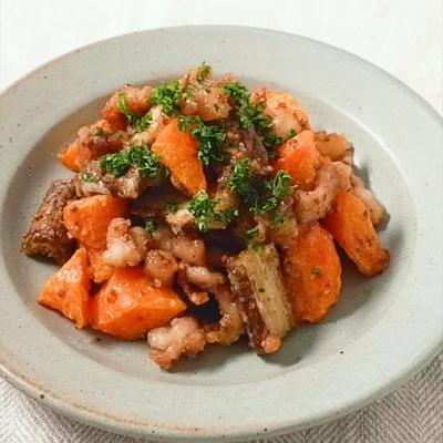 豚ロースと根菜のハニーマスタードサラダ