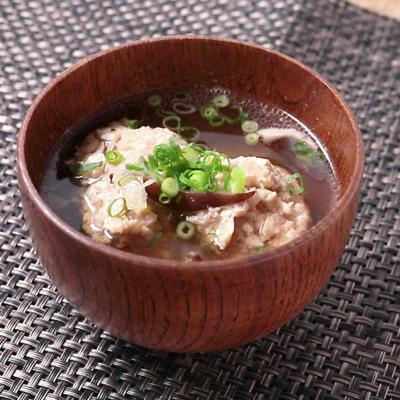 つみれとしいたけの生姜スープ