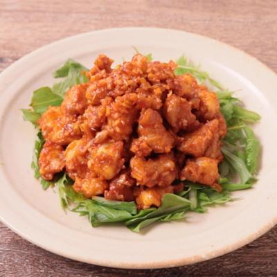 鶏なんこつのピリ辛コチュジャン炒め