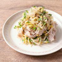 豆もやしとブロッコリースプラウトの豚しゃぶサラダ