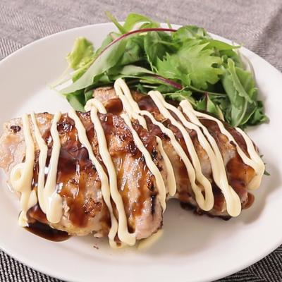 豚ロース肉のお好み焼き風ステーキ