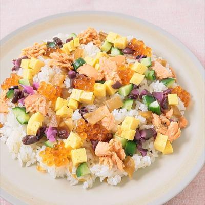 お手軽 鮭とかんぴょうのちらし寿司