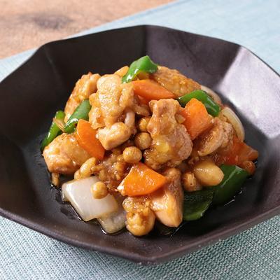福豆たっぷり 鶏肉のオイスターソース炒め