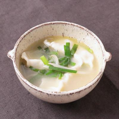 冷凍餃子で 簡単中華風スープ
