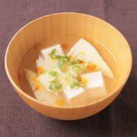 たけのこと豆腐のスープ