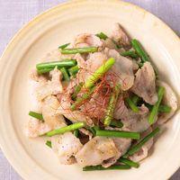 豚バラ肉のスタミナ塩麹炒め