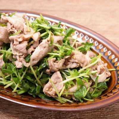 豆苗の豚しゃぶサラダ