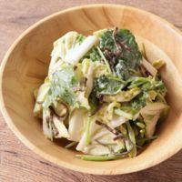 白菜と三つ葉の和風クリームサラダ