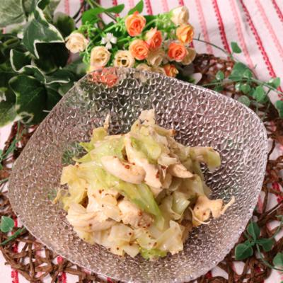 ピリッと美味しい!キャベツとささみのマスタードサラダ
