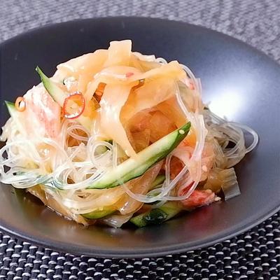 中華くらげの春雨サラダ