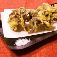 三つ葉香る!もずくの天ぷら