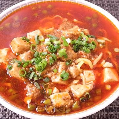 麻婆豆腐リメイク 青唐辛子のピリ辛ラーメン