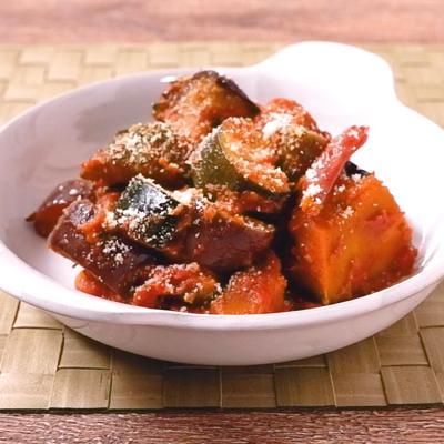 彩り野菜のカレー風味ラタトゥイユ
