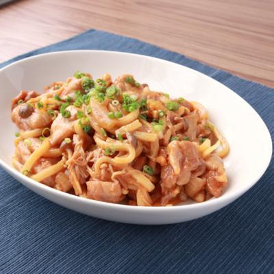 レンジでガッツリ 麺と合わせてタッカルビ