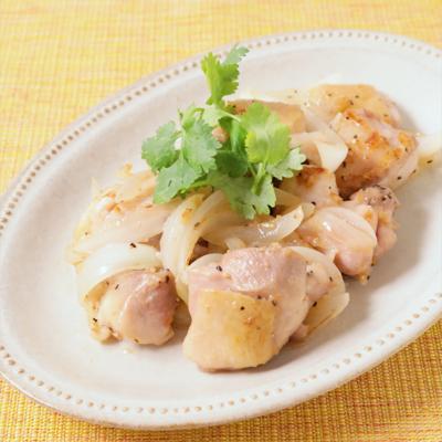 鶏肉のレモンペッパー炒め