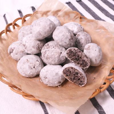 ホロホロザクザク ココアクッキーで作る スノーボール