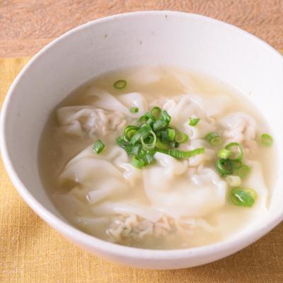新生姜でさっぱり ワンタンスープ