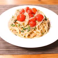 トマトとじゃこの和風スパゲティ