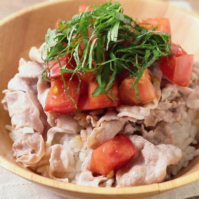 さっぱり 豚しゃぶトマトサラダ丼