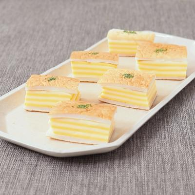 お弁当に はんぺんとWチーズのミルフィーユ