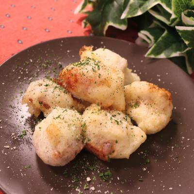 生ハムとチーズの大和芋揚げ