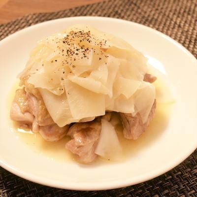 バター香る 大根と鶏肉の塩炒め