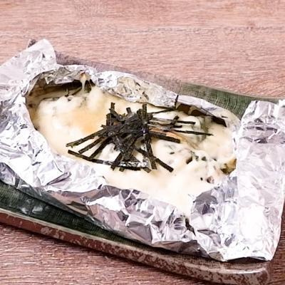 うなぎの白焼きとチーズのホイル焼き