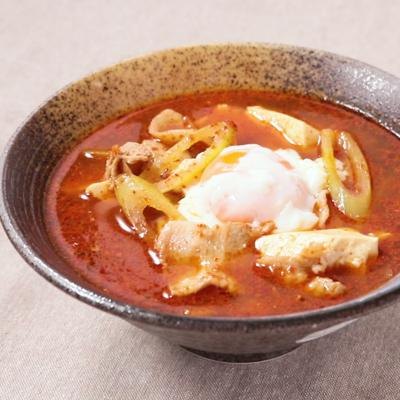 シーフードミックスでスンドゥブチゲ風スープ