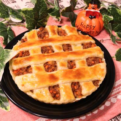 ハロウィンの季節!パンプキンミートパイ