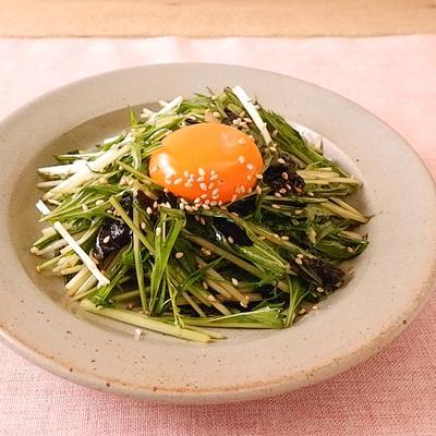 ごま油香る 水菜の韓国風和え物