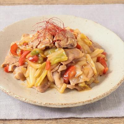 千葉県産キャベツで作る 3種の野菜の回鍋肉