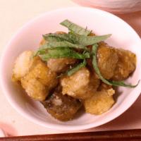 ごぼうのコロコロバター醤油焼き