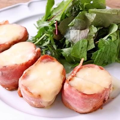 豚ヒレ肉のベーコン巻きチーズステーキ