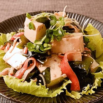 豆腐とカニカマの中華風サラダ