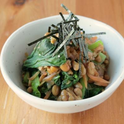 ネバトロ 小松菜の納豆和え