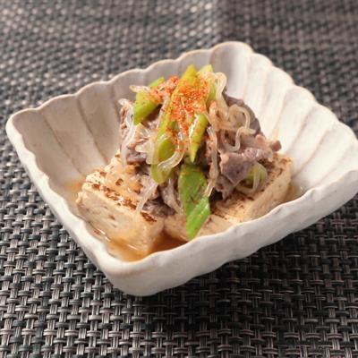 電子レンジで 簡単おつまみ 肉豆腐