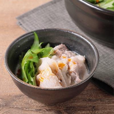 水菜たっぷり 豆乳みそ味のはりはり鍋